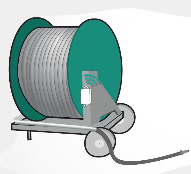 irrigation connectée GPS débit eau canon IOT objetc connecté