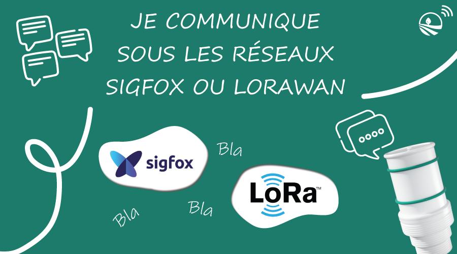 Capteur Agrilab io communication sur réseau Sigfox ou lora