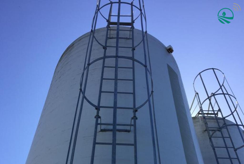 Installation capteur silo sur silo